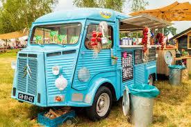 AALTEN, THE NETHERLANDS - JUNE 26, 2017: Vintage Blue Food Truck ...