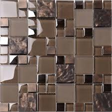 brown glass mosaic kitchen backsplash tile contemporary mosaic