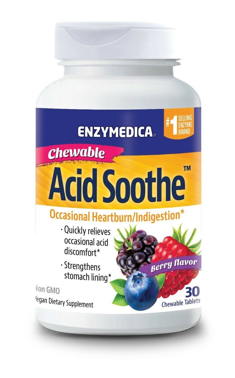 Enzymedica Acid Soothe Chewable - Berry, 30ct