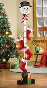 Snowman Christmas Stocking Holder Tree From Collections Etc