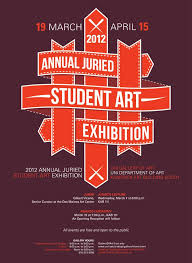 UNI Annual Juried Student Art Exhibition 2012 Poster By Kenny Miesner Via Behance