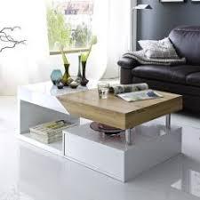 table basse laque blanc et bois maison design hosnya