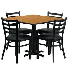 Square Table And Chairs Inch Natural Laminate Dining Set With 4 Black