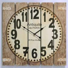 wanduhr quadrat antik stil antiquitfe de küchenuhr wohnzimmeruhr geil 58cm ellas wohnwelt de