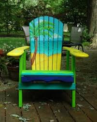 Custom Painted Margaritaville Adirondack Chairs by 25 Fun Loving Garden Art Ideas By Upcycling Household Items Fish