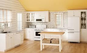 Kitchen With Retro White Appliances