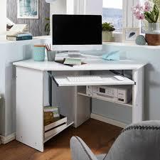 finebuy eckschreibtisch 127 x 73 x 88 5 cm mit tastaturauszug und ablagefach weiß moderner schreibtisch für büro pc tisch arbeitszimmer