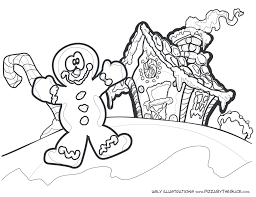 Coloring Page Gingerbread Man House