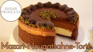 unwiderstehliche mozart nougatsahne torte mit marzipan quark creme