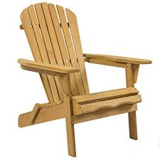 Amazon Best Choice Products Foldable Wood Adirondack Chair for