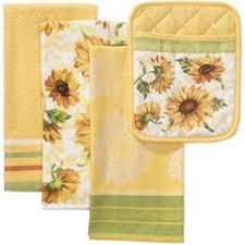 Better Homes And Gardens Kitchen Towel Pot Holder Set Sunflower Dining