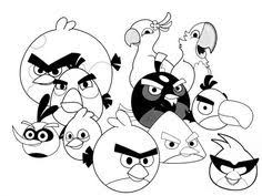 The Angry Birds Family Printable Coloring Pages For Children