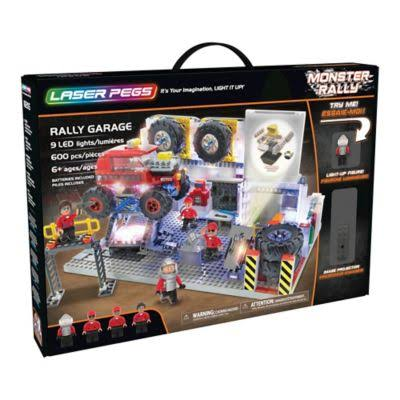Laser Pegs Monster Rally Truck Garage Block Set - 600pcs