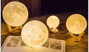 3D Printed Moon Lamp Replica in Multiple Sizes Save up to 64
