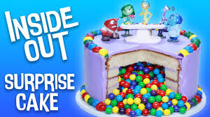 Cake Decoration Ideas With Gems by Inside Out Surprise Cake Nerdy Nummies Youtube