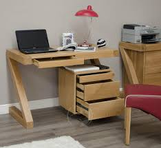 Computer Desks For Small Spaces Uk by Z Shape Solid Oak Small Computer Desk Oak Furniture Uk