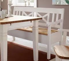 massivholz sitzbank 148cm 2farbig weiß gelaugt kiefer mit armlehne truhenbank