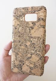 For Samsung Galaxy Note 5 Black Wood Cork Cell Phone Smartphone Mobile Phone Case Cover by