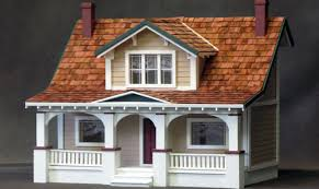 Simple Bungalow House Kits Placement by Home Dollhouses Cabins Classic Bungalow Dollhouse Kit Building