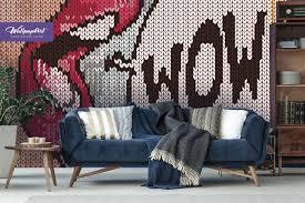100 Pop Art Home Decor Removable Wallpaper Wall Mural Self