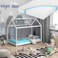 vitalispa hausbett wiki 80x160 weiß kinderbett kinderhaus matratze bett holz