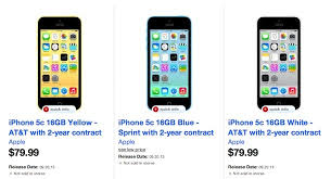 Tar also selling the iPhone 5c for $79 99 on contract now