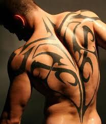 Back Tribal Tattoo For Men