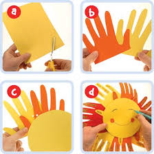 Fun Hand Sun Use Card Paper Or Foam Pieces With The Kids And Start