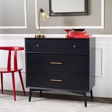 6 Drawer Dresser Black by Mid Century Bronze Hardware 6 Drawer Black Dresser