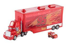 Amazon.com: Disney/Pixar Cars Mini Racers Mack Transporter: Toys & Games