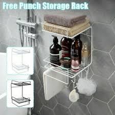 details zu wandmontage badezimmer shoo dusche regal halter aufbewahrung rack organizer