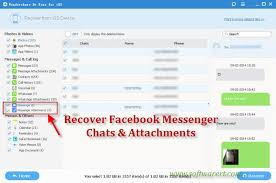 Recover Deleted Messenger Chats and Messages on iPhone