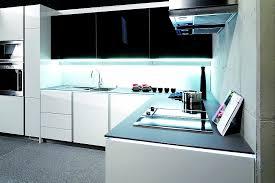 grifflose l form küche integra altea in weiß und schwarz