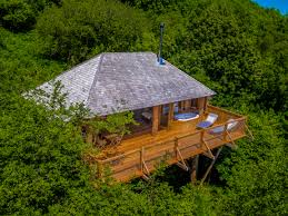 100 Tree Houses With Hot Tubs Black Wolf House Canopy Stars