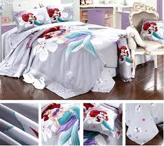 little mermaid bedding set queen disneys little mermaid cascading