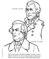 Free Printable President Zachary Taylor Facts And Coloring Picture