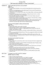 Download Financial Management Resume Sample As Image File
