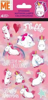Despicable Me Fluffy Unicorn Movie Stickers