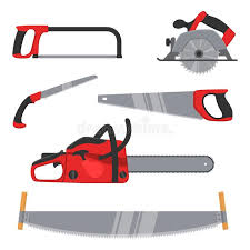 Download Lumberjack And Woodworking Tools Icons Isolated On White Background Axeman Instruments Saw Set