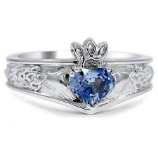 Celtic Inspired Claddagh Ring top view Beautiful