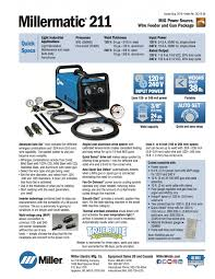 Millers Ready Made Curtains by Miller Millermatic 211 Mig Welder W Advanced Auto Set 907614