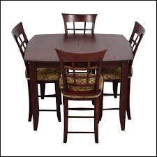 48 Off High Top Dining Table With Four Chairs Tables 4 Chair Room Sets