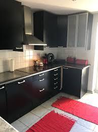 schwarze ikea küche in 85757 karlsfeld für 1 500 00 zum