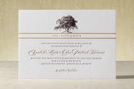 Oak Tree Letterpress Wedding Invitations By Annie Clark