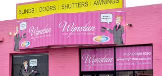 Wynstan Blinds   Showroom   Airport West - Wynstan Canopy Awnings Sydney Melbourne Wynstan Window Custom Blinds Showroom Dandenong Riverwood Fixed Steel Pivot Arm Brookvale Folding Toorak Straight Drop
