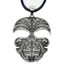 Ta Moko Maori Mask Necklace Pendant Tribal Tattoo Kirituhi New Zealand Gift For Men Women Travelers