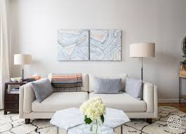 West Elm Overarching Floor Lamp by A Light Airy And Calming One Bedroom One Bedroom The Client