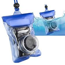 Amazon Insten Waterproof Camera Case with Rope Blue