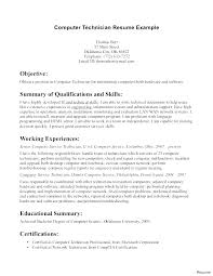 Resume Headline Examples For Network Engineer Technician Cover Letter Sample Computer Pct