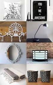 Black White Bedroom Decor Etsy Treasury List